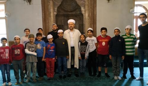 İzcilerden, Ulu Camii Hatibi Gökmen'e Ziyaret