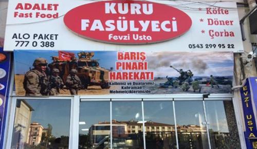 Kuru Fasulyeci Fevzi'den Barış Pınarı Harekatı'na Destek