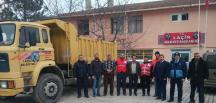 Laçin'de, Yardımlar Kızılay'a Teslim Edildi
