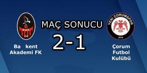 Çorum FK Kazanmayı Unuttu