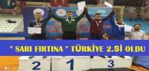 """""""Sarı Fırtına"""" Türkiye 2.incisi Oldu"""