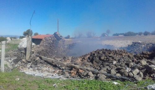 Köyde Çıkan Yangın Korkuttu
