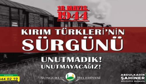 """""""Kırım Türklerinin Sürgününü Unutmadık"""""""